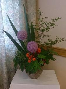 2階レストランお花
